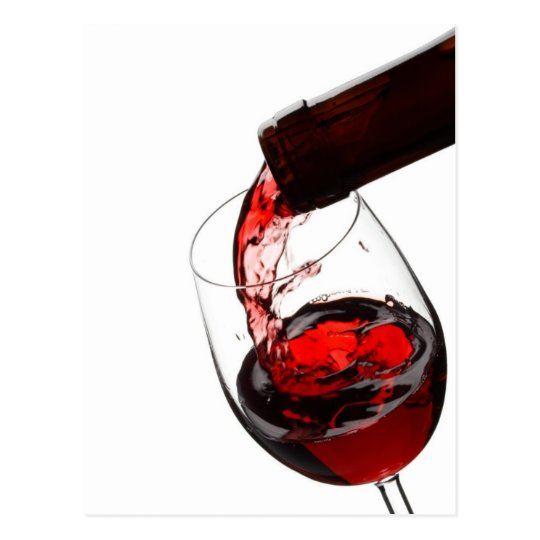 A Glass of Red Wine Postcard