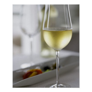A glass of white wine 2 poster