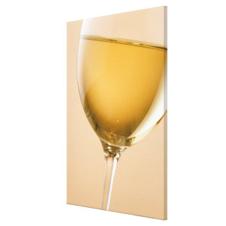 A glass of white wine canvas print