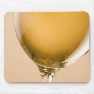 A glass of white wine mousepad