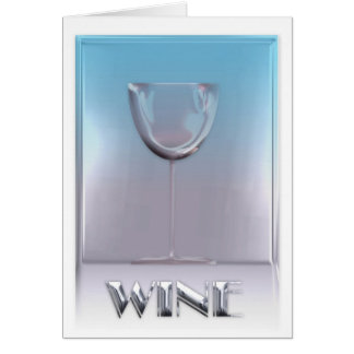 A glass of Wine Card