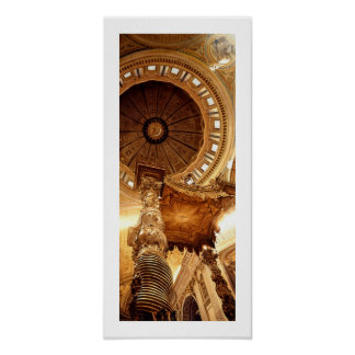 """A Glimpse at the Gate"" St. Peter's Basilica Print"