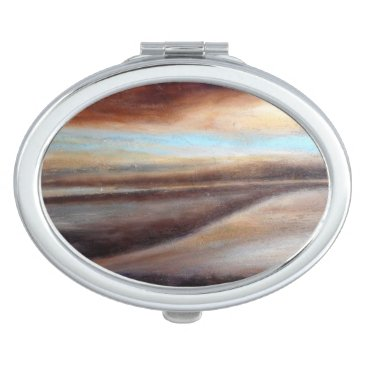 Beach Themed A Glimpse of Blue Abstract Compact Mirror