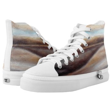 Beach Themed A Glimpse of Blue Abstract High Top Shoes