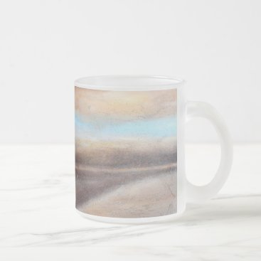 Beach Themed A Glimpse of Blue Frosted Glass Mug