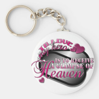 A glimpse of heaven basic round button keychain