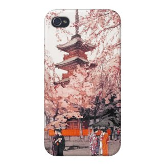 A Glimpse of Ueno Park Hiroshi Yoshida art iPhone 4 Covers