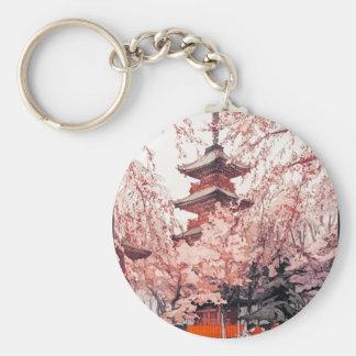 A Glimpse of Ueno Park Hiroshi Yoshida art Keychain