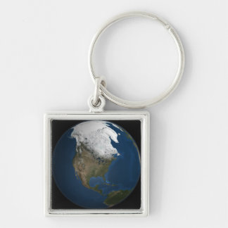 A global view over North America Keychain