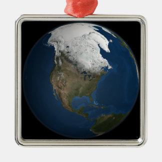 A global view over North America Metal Ornament