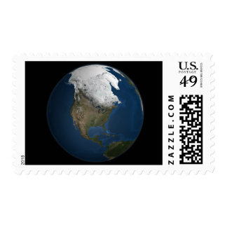 A global view over North America Postage
