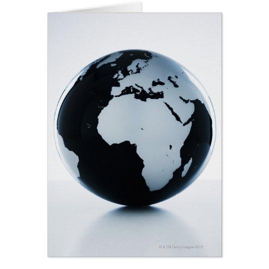 A globe card