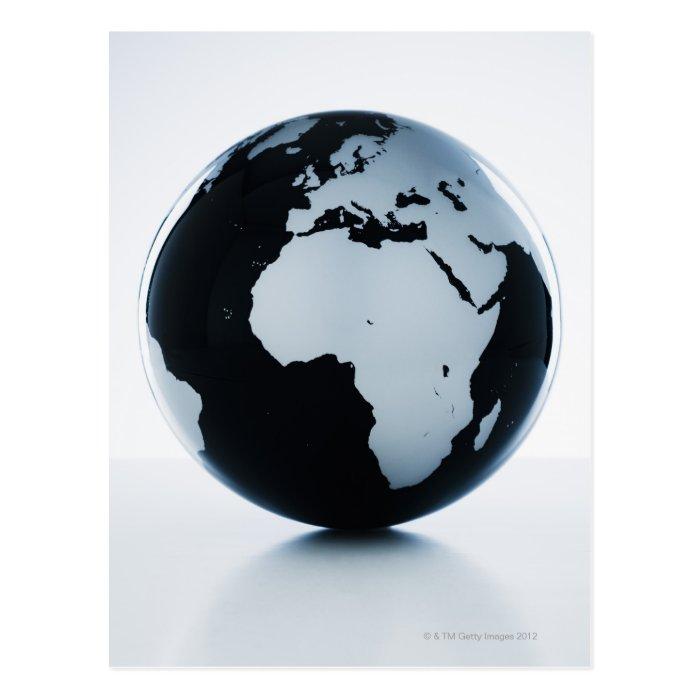 A globe postcard