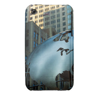A globe with a stainless steel North America iPhone 3 Covers