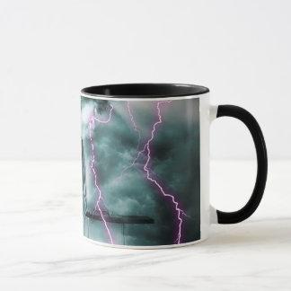 A Gloomy Girl in Storm Mug