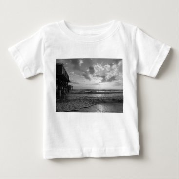 Beach Themed A Glorious Beach Morning Grayscale Baby T-Shirt