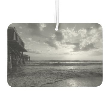 Beach Themed A Glorious Beach Morning Grayscale Car Air Freshener