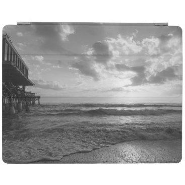 Beach Themed A Glorious Beach Morning Grayscale iPad Smart Cover