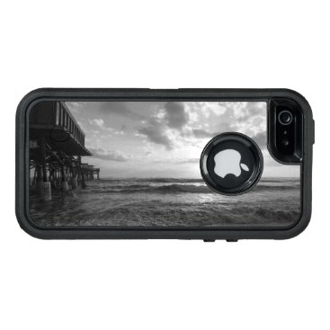 Beach Themed A Glorious Beach Morning Grayscale OtterBox Defender iPhone Case