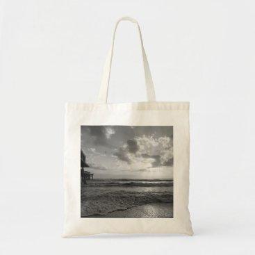 Beach Themed A Glorious Beach Morning Grayscale Tote Bag