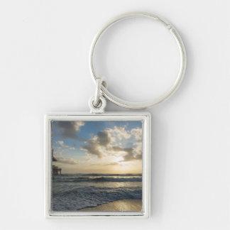 A Glorious Beach Morning Keychain