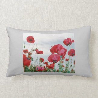 a glorious field of poppy's pillow