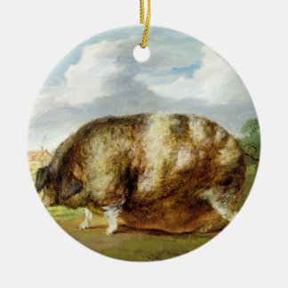 A Gloucestershire Old Spot (oil on panel) Ceramic Ornament