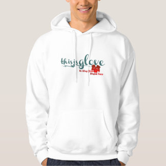 a glove to slap your stupid face hoodie