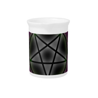 A glowing pentagram beverage pitchers
