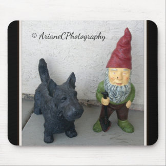 A gnome and his dog mousepad