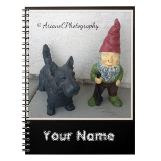 A gnome and his dog notebook