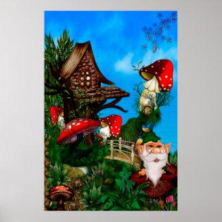 A Gnome for my Garden Fantasy Art Poster