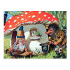 A Gnome Living in a Mushroom Cottage Postcard