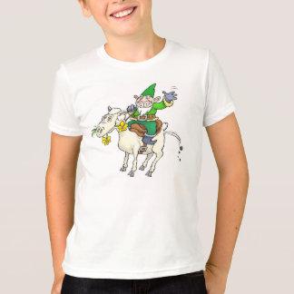 A Gnome riding a sheep. T-Shirt