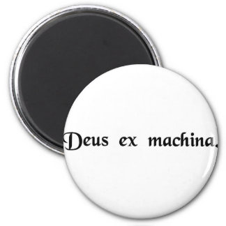 A god from a machine. 2 inch round magnet