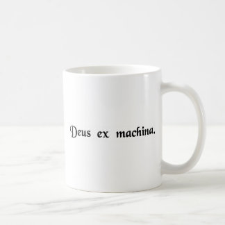 A god from a machine. coffee mug
