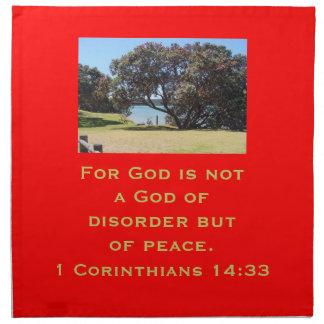 A God of Peace (1 Corinthians 14:33) Napkin