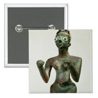 A Goddess of Mari, Early Dynastic Period, c.25th-2 2 Inch Square Button