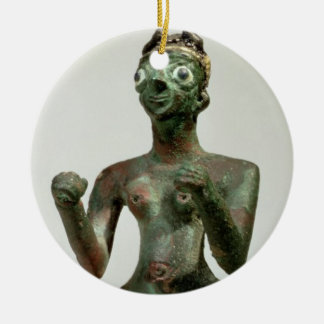 A Goddess of Mari, Early Dynastic Period, c.25th-2 Double-Sided Ceramic Round Christmas Ornament