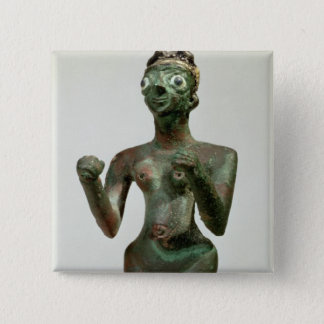 A Goddess of Mari, Early Dynastic Period, c.25th-2 Pinback Button