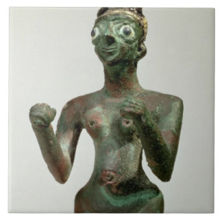 A Goddess of Mari, Early Dynastic Period, c.25th-2 Large Square Tile
