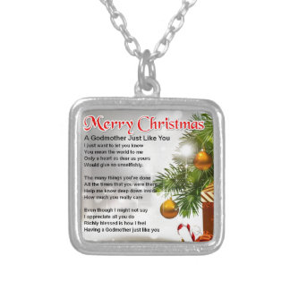 A Godmother Poem Silver Plated Necklace