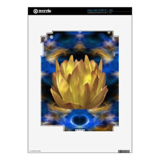 A gold lotus flower and reflections iPad 2 skins