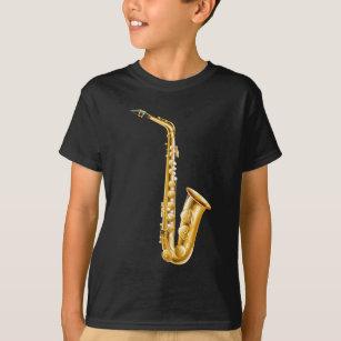 793be58a027a9 A gold saxophone T-Shirt