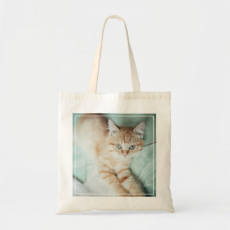 A Golden Color Kitten Lying Down Tote Bag