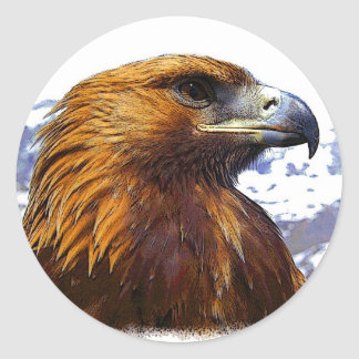 A Golden Eagle Classic Round Sticker