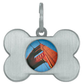 A Golden Gate Pet ID Tag