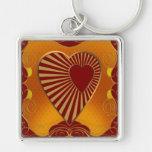 A Golden Heart Keychain