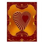 A Golden Heart Post Cards