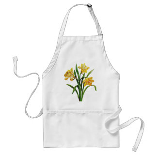 A Golden Host of Embroidered Daffodils Adult Apron